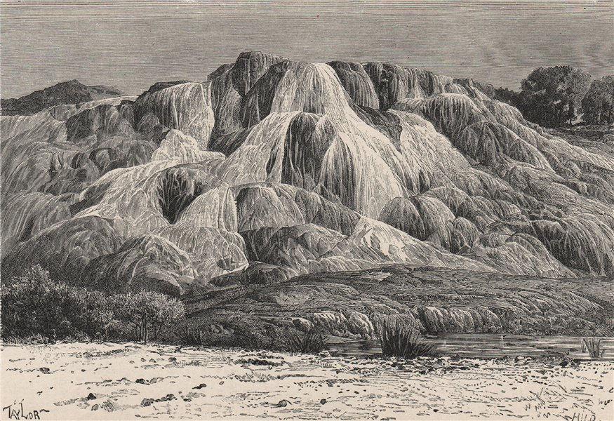 Associate Product Petrified cascade of Hammam Meskhoutine, Guelma. Algeria 1885 old print