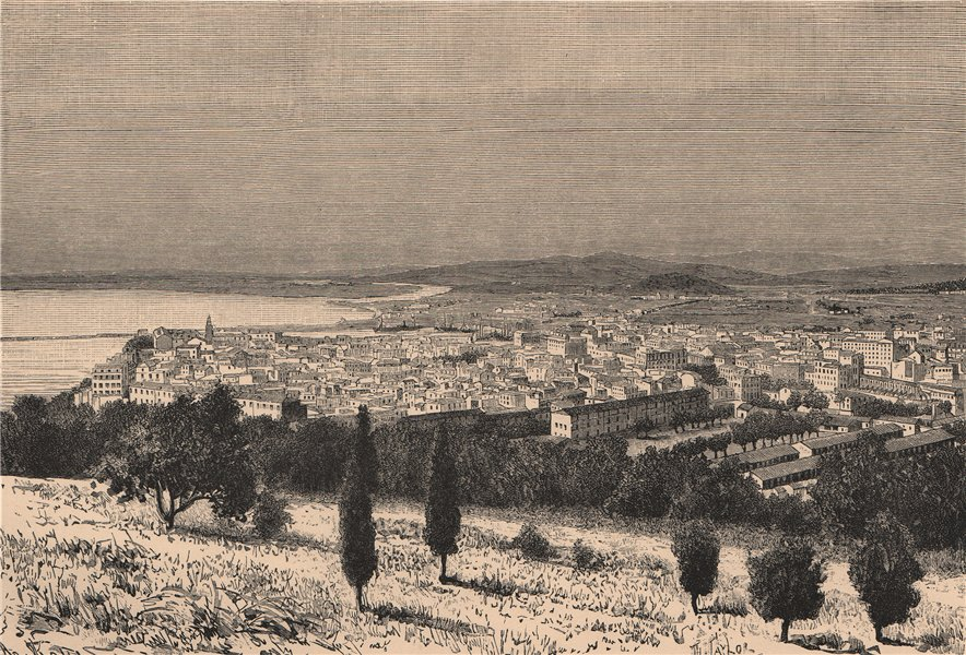 Associate Product General view of Annaba (Bone) . Algeria 1885 old antique vintage print picture