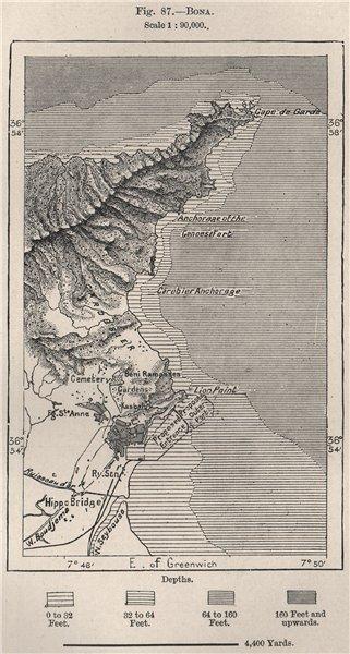 Associate Product Bonn (Annaba) . Algeria 1885 old antique vintage map plan chart