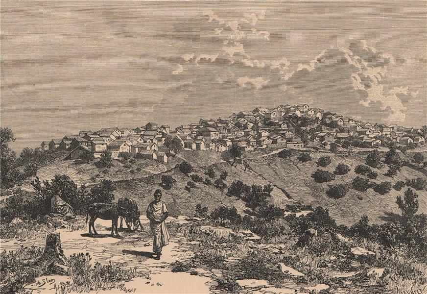 Associate Product Kabyle Village. Algeria 1885 old antique vintage print picture