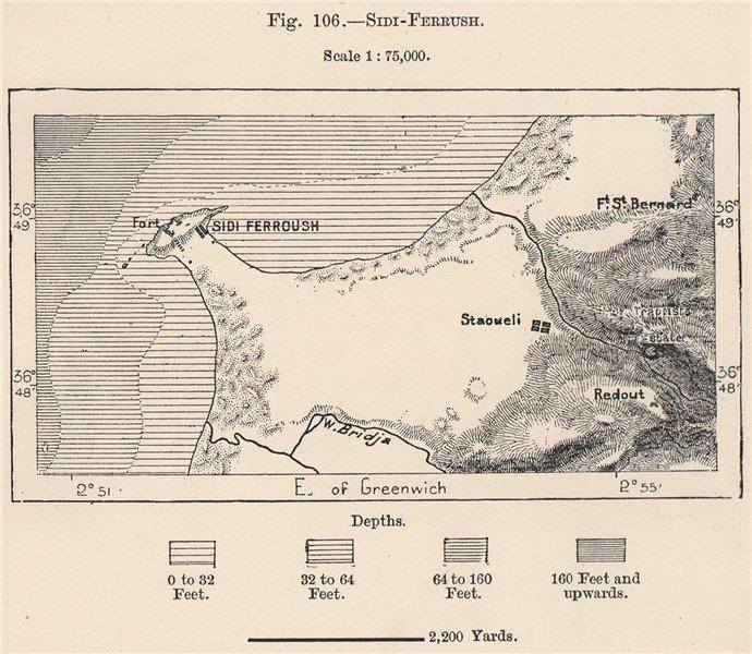 Associate Product Sidi-Ferruch (Sidi Fredj) . Algeria 1885 old antique vintage map plan chart