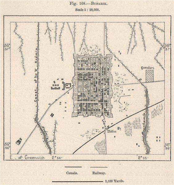 Associate Product Boufarik. Algeria 1885 old antique vintage map plan chart