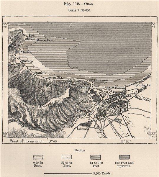 Associate Product Oran. Algeria 1885 old antique vintage map plan chart