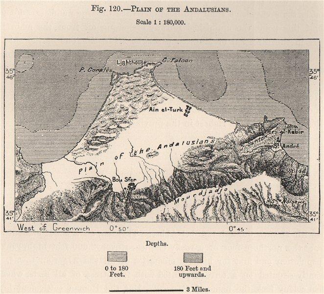 Associate Product Plain of Andalusians Bou Sfer Ain el-Turk Bomo/Beau Sejour Algeria 1885 map