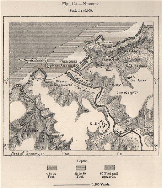 Associate Product Ghazaouet (Nemours)  (Ghazaouet) . Algeria 1885 old antique map plan chart