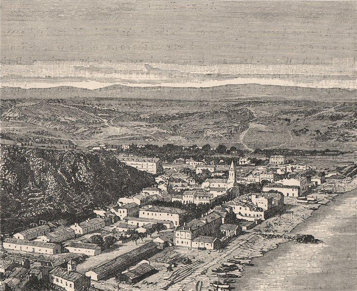 Associate Product Ghazaouet (Nemours)  (Ghazaouet) . Algeria 1885 old antique print picture