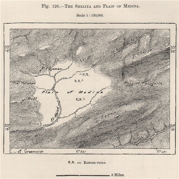 Associate Product Djebel Chélia & park. Plain of Medina. Roman ruins. Algeria 1885 old map