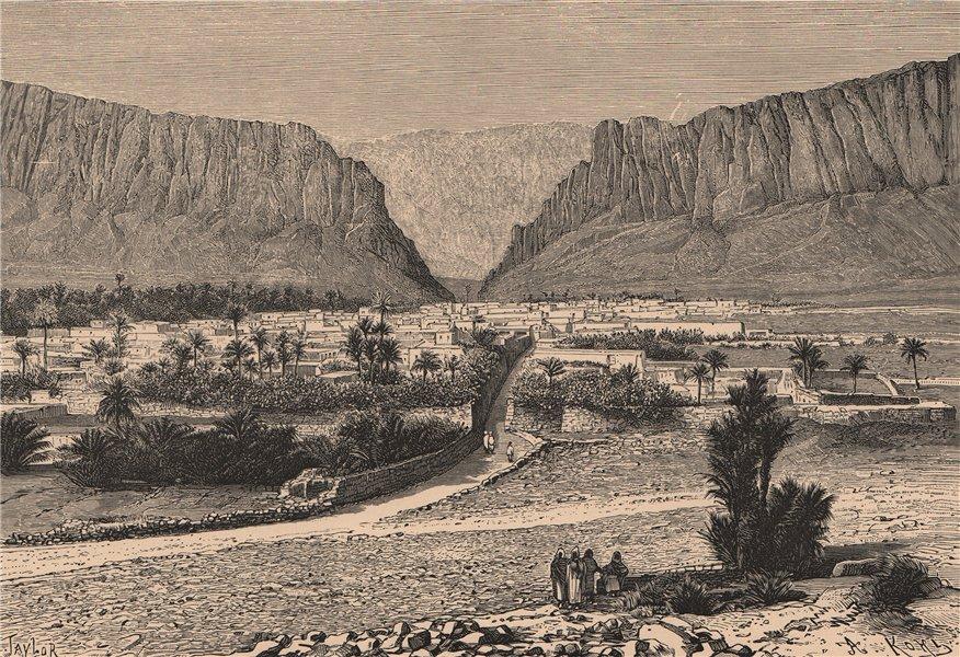 Associate Product The El Kantara Gorge, Biskra, Algeria 1885 old antique vintage print picture