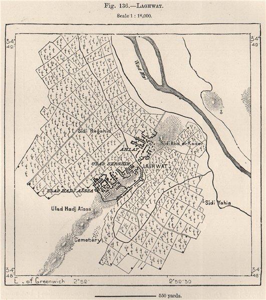 Associate Product Laghouat Laghwat. Algeria 1885 old antique vintage map plan chart