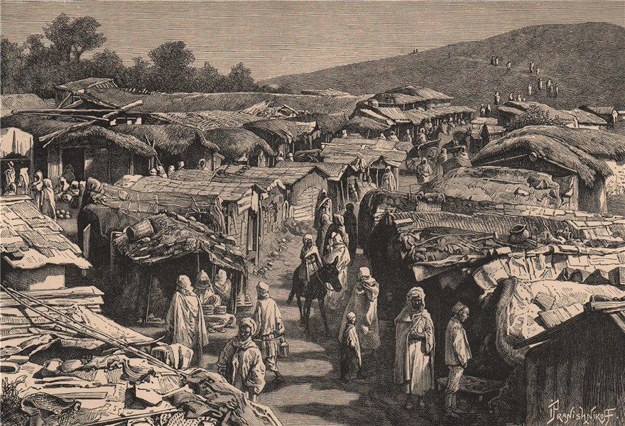 Associate Product Beni-Ramasses quarter, Constantine. Algeria 1885 old antique print picture