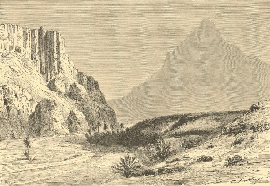 Associate Product Wed El-Halluf (Oued El Hallouf) near Figuig. Morocco Algeria 1885 old print