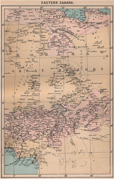 Associate Product Eastern Sahara. Africa. Libya Niger Algeria Chad Nigeria 1885 old antique map