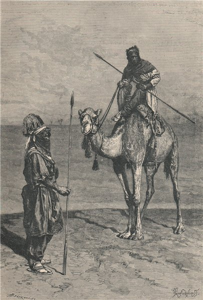 Associate Product Tuaregs on a Journey. Africa. The Sahara 1885 old antique print picture