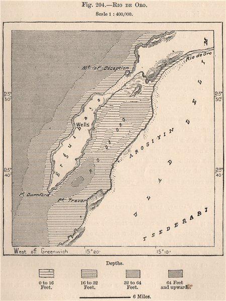 Associate Product 'Rio de Oro'. Dakhla, Western Sahara 1885 old antique vintage map plan chart