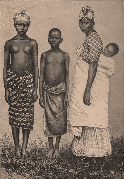 Associate Product Women and Children of Porto Grande. Brazil or São Vicente, Cape Verde? 1885