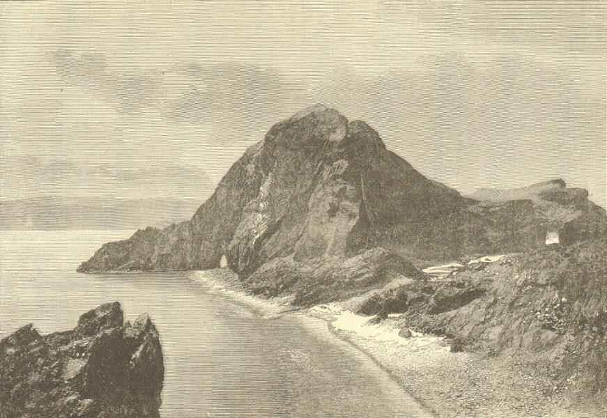 Associate Product Ponta de São Lourenço, eastern Headlands of Madeira. Portugal 1885 old print