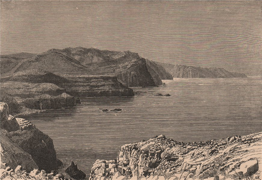 Associate Product Madeira - View taken on the Northern Coast. Portugal 1885 old antique print