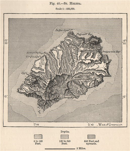 Associate Product St. Helena. Atlantic Islands. South-West African Islands 1885 old antique map