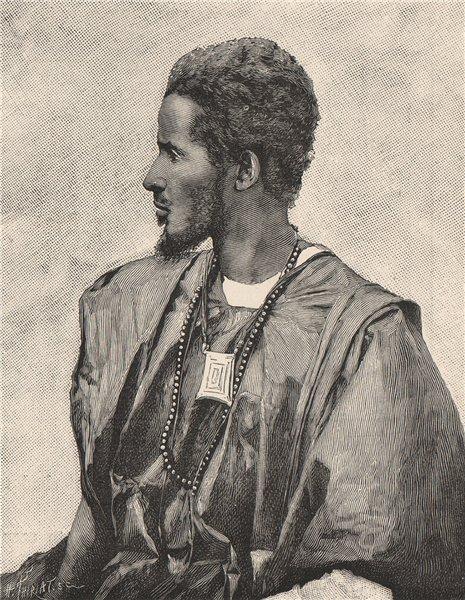Trarza Type. Mauritania. North Senegambia 1885 old antique print picture