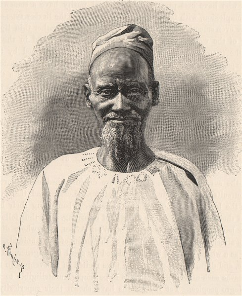 Associate Product Fulah Type. Africa. North Senegambia 1885 old antique vintage print picture