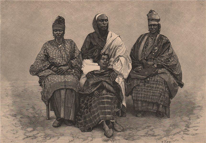 Associate Product Toucouleur/Tukulor people. Interpreter Alpha Sega & his sisters. Senegal 1885