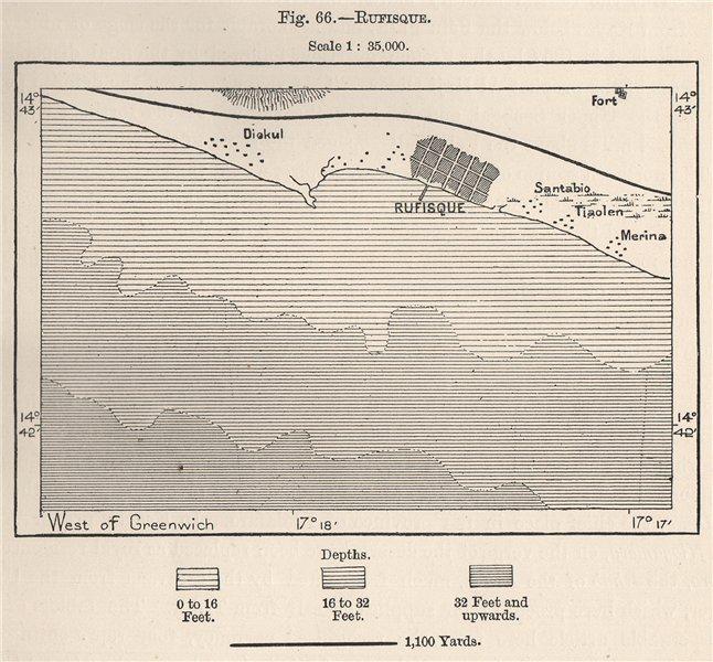 Associate Product Rufisque. Senegal 1885 old antique vintage map plan chart