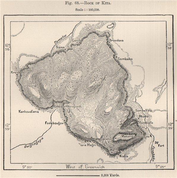 Associate Product Mount Kita. Mali. North Senegambia 1885 old antique vintage map plan chart