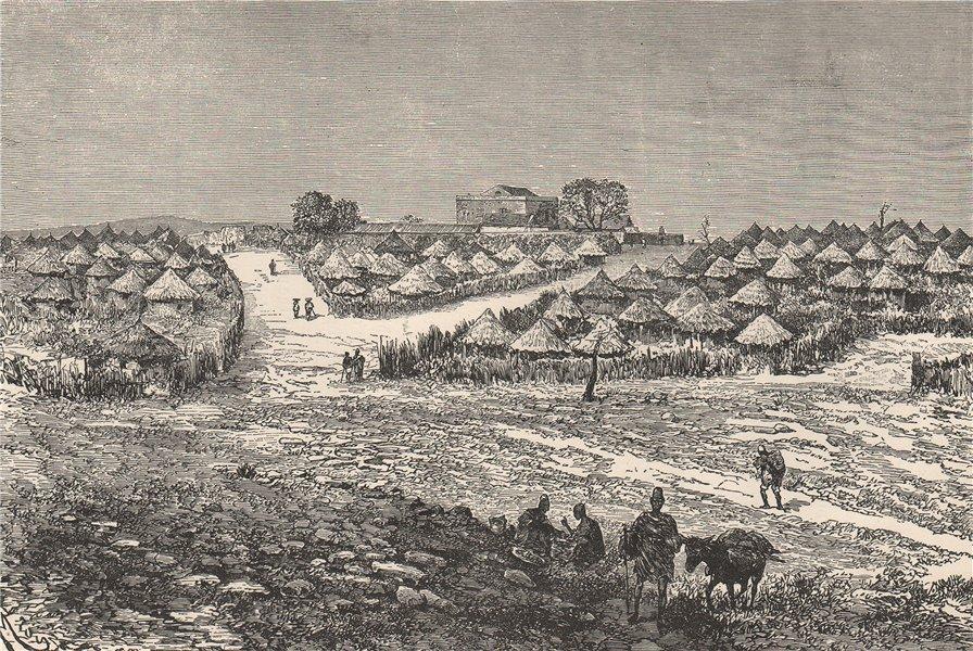 Associate Product Medina (Médine, Kayes) - General view. Mali. Senegal river 1885 old print