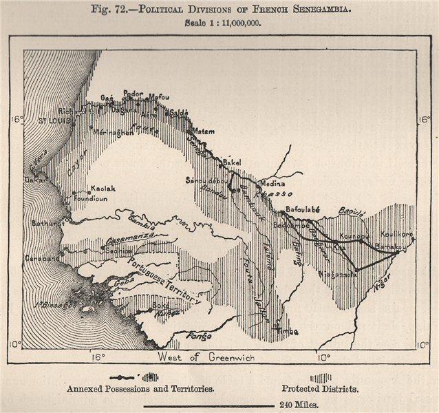 Associate Product Political divisions of French Senegambia. Senegal Gambia Guinea Mali 1885 map