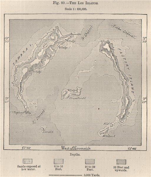 Associate Product The Los Islands. Îles de Los/Loose Islands. Guinea 1885 old antique map chart