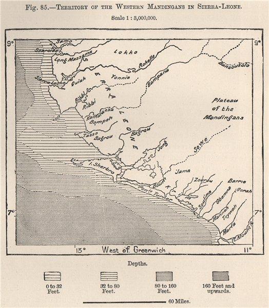 Associate Product Territory of the western Mandingans/Mandinka in Sierra Leone 1885 old map