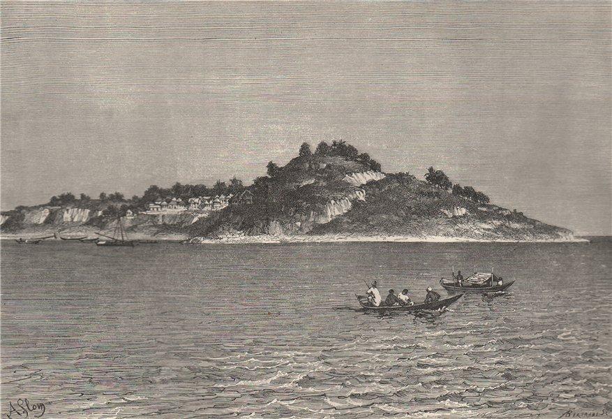 Associate Product Monrovia and Cape Mesurado. Liberia 1885 old antique vintage print picture