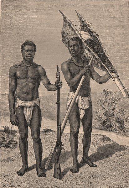 Associate Product Kroomen/Krumen. Liberia 1885 old antique vintage print picture
