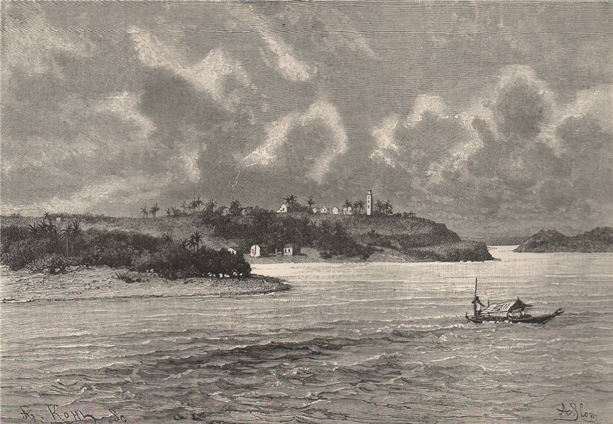 Associate Product Cape Palmas. Liberia 1885 old antique vintage print picture