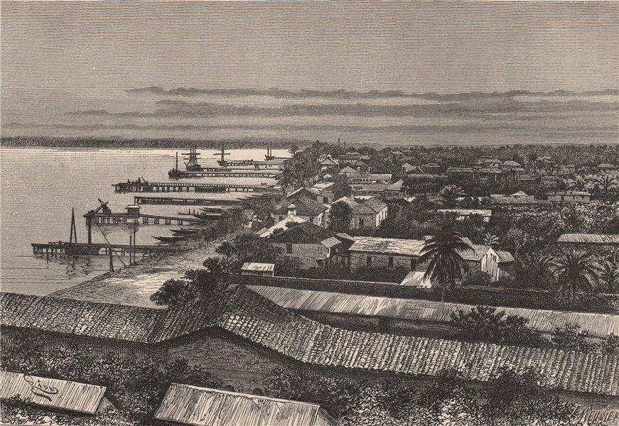 Associate Product Lagos - European quarters. Nigeria. Upper Guinea 1885 old antique print