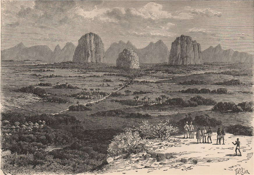 Associate Product The Tembi - Kundu Hill and source of the Niger. Guinea Highlands 1885 print