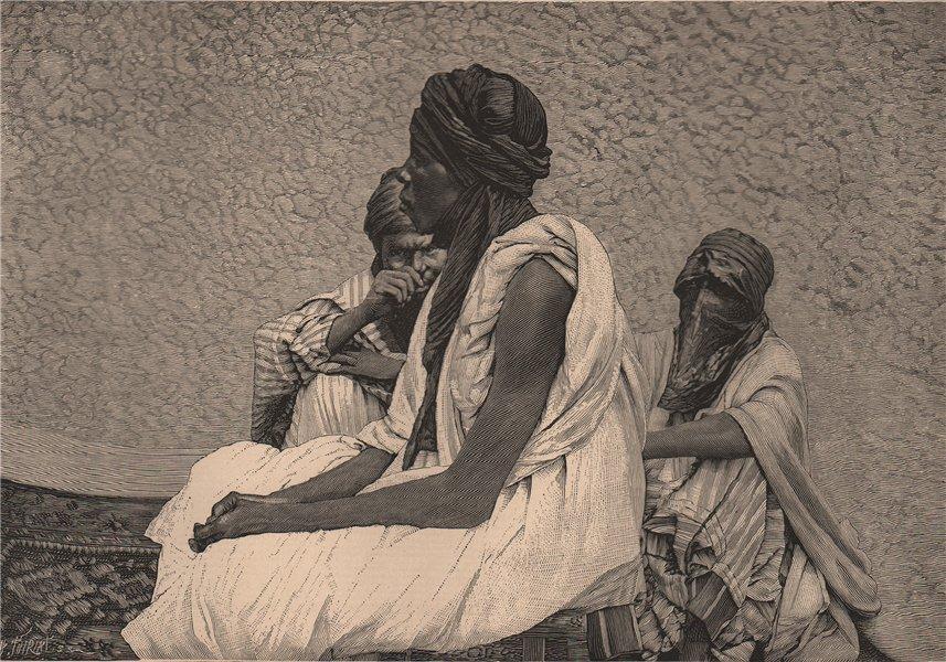 Associate Product Fillani Fulah Fula Fulani people. Africa. The Niger Basin 1885 old print