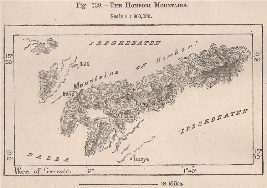 Associate Product The Hombori Mountains. Mali. The Niger Basin 1885 old antique map plan chart