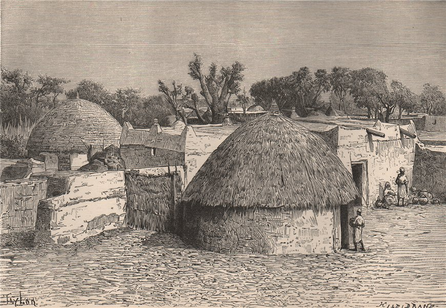 Associate Product Sokoto - View taken in the interior. Nigeria. The Niger Basin 1885 old print