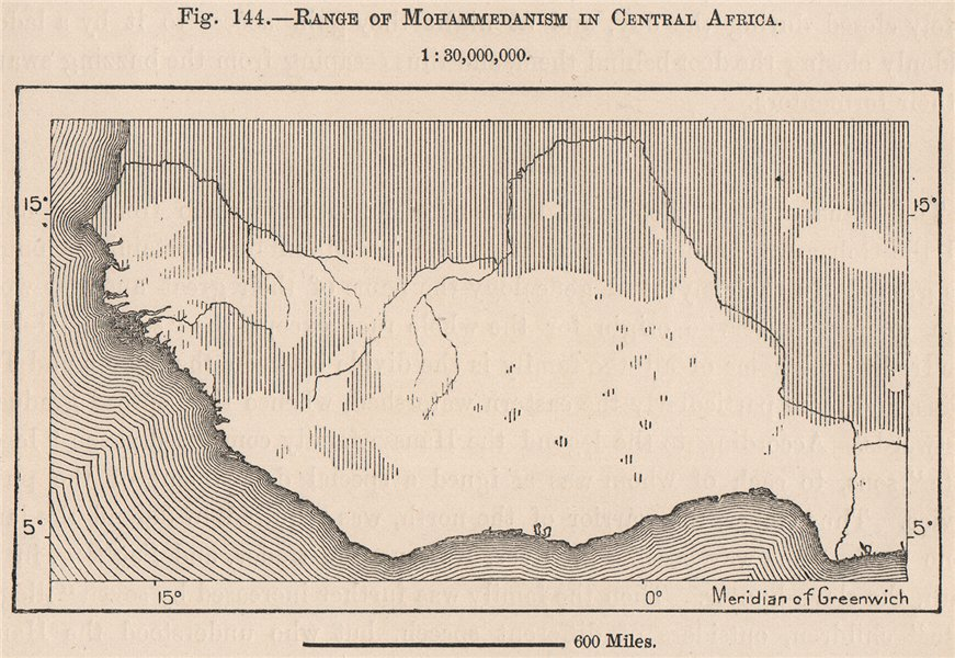 Associate Product Range of Mohammedanism/Islam in Central/West Africa. The Niger Basin 1885 map