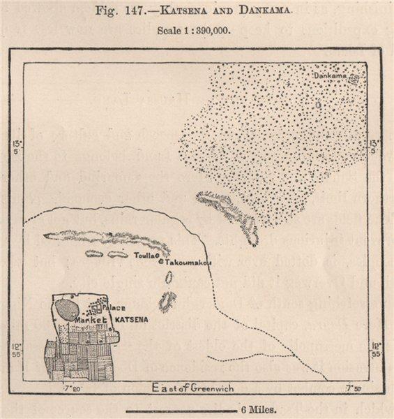 Associate Product Katsina and Dankama. Nigeria. The Niger Basin 1885 old antique map plan chart