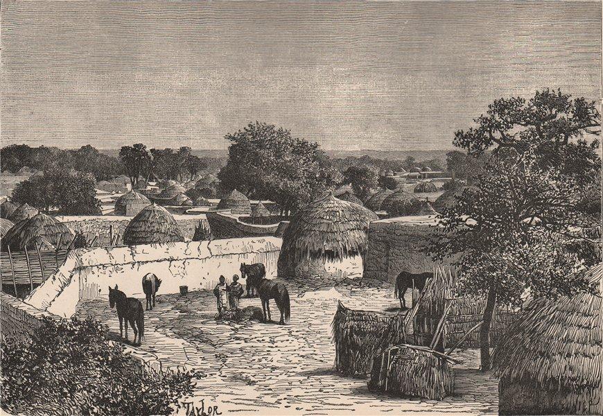 Associate Product Wurno - View taken in the Interior. Sokoto, Nigeria. The Niger Basin 1885