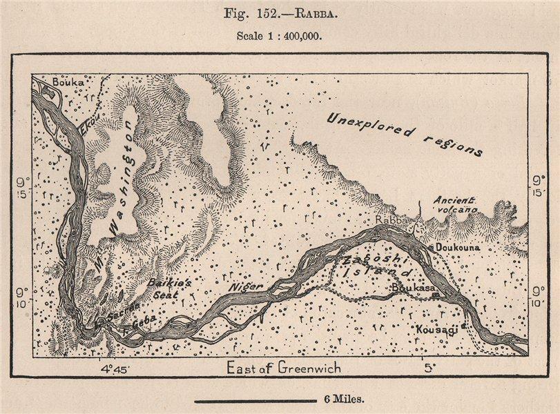 Associate Product Rabba. Jebba. Lake Jeba. Nigeria. Niger River 1885 old antique map plan chart
