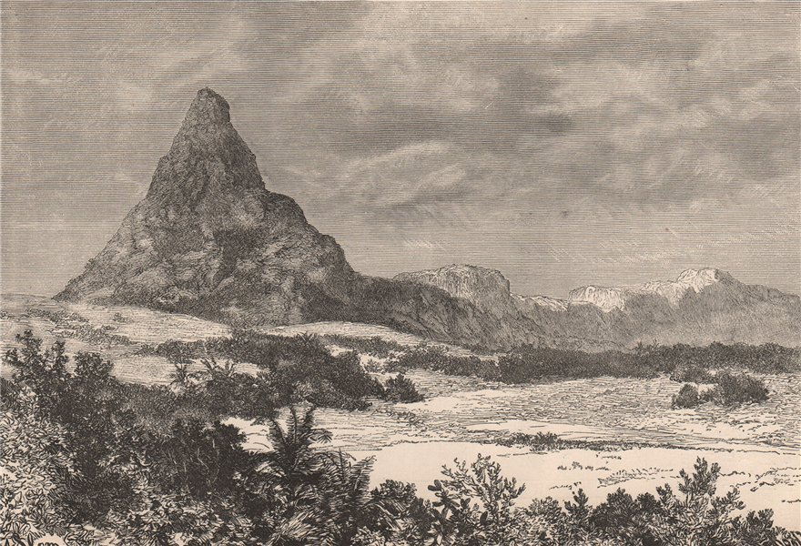 Associate Product Mac-Iver peak. Nigeria. The Niger Basin 1885 old antique vintage print picture