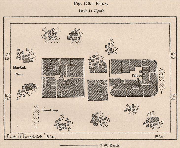 Associate Product Kuka/Ktkawa. Borno, Nigeria. The Chad Basin 1885 old antique map plan chart