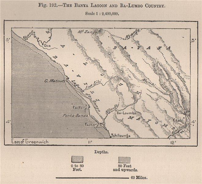 Associate Product Banya Lagoon & Balumbo Country. Mayumba Conkouati. Gabon/Congo 1885 old map