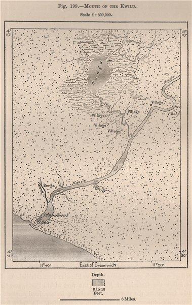 Associate Product Mouth of the Kouilou River. Congo. Tchimpounga 1885 old antique map plan chart