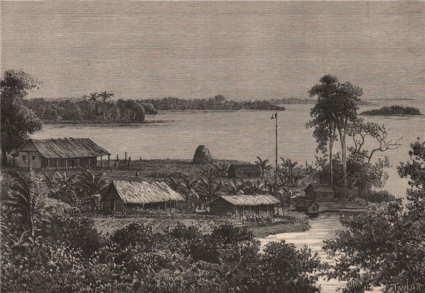 Associate Product Ubangi/Ubangui river - View taken at the Nkunjia Station. Congo. Congo 1885