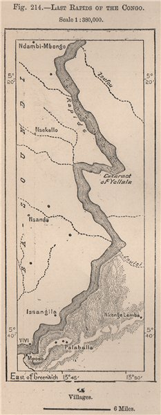Associate Product Yellala Falls (Rapides/Chutes Yelala. Ielala) . Congo rapids. Matadi 1885 map