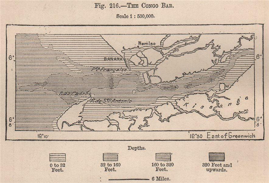 Associate Product Mouth of the Congo river. Mayumbe Soyo Banana. Ile de Mateba 1885 old map